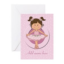 Personalized Ballerina Ballet Greeting Cards (Pk o