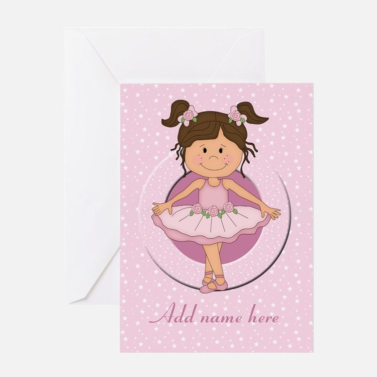 Personalized Ballerina Ballet Greeting Card