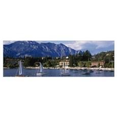 Resort Lake Garda Italy Poster