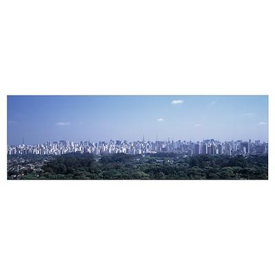 Skyline Sao Paulo Brazil Poster