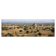 Myanmar, Pagan, temples Poster