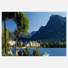 City on the waterfront, Lake Lugano, Lugano, Switz