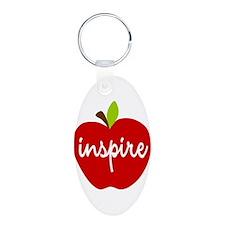 Inspire Apple Aluminum Oval Keychain