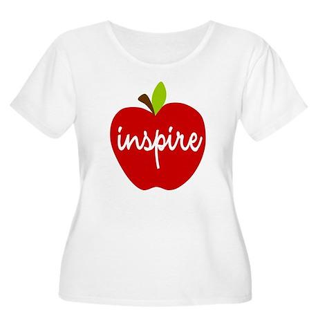 Inspire Apple Women's Plus Size Scoop Neck T-Shirt
