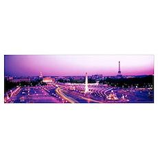 Dusk Place de la Concorde Paris France Poster