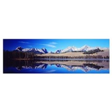 Little Redfish Lake Mountains ID Poster