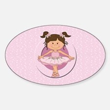 Personalized Ballerina Ballet Sticker (Oval)