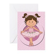 cute pink Ballerina Ballet Greeting Cards (Pk of 1