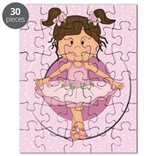 cute pink Ballerina Ballet Puzzle