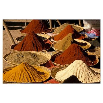 Spices Marrakech Morocco Poster
