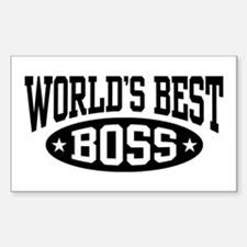 World's Best Boss Decal