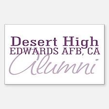 Desert Alumni Rectangle Decal