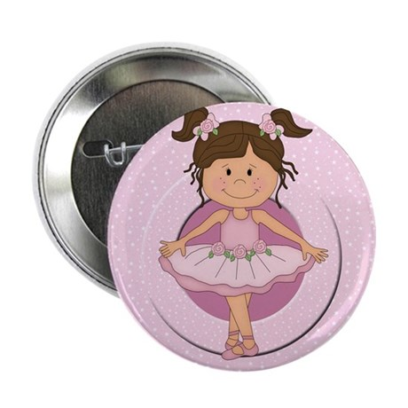 """cute pink Ballerina Ballet 2.25"""" Button (10 pack)"""