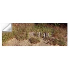 Fence with grass at the lakeside Lake Erie Presque Wall Decal