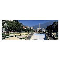 Obelisk in a park Plaza Francia Altamira Caracas V Poster