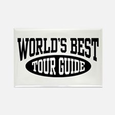 World's Best Tour Guide Rectangle Magnet