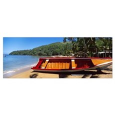 Boat on the beach Colorada Beach Mochima National  Poster