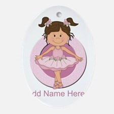 cute pink Ballerina Ballet Ornament (Oval)