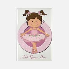 cute pink Ballerina Ballet Rectangle Magnet (100 p