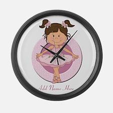 cute pink Ballerina Ballet Large Wall Clock