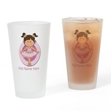 cute pink Ballerina Ballet Drinking Glass