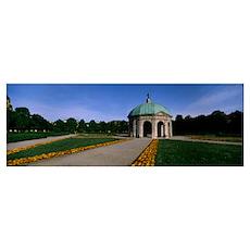 Pavilion for the Goddess Diana in a garden Hofgart Poster