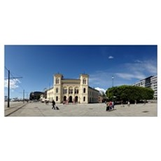 Facade of a building Nobel Peace Center Oslo Norwa Framed Print