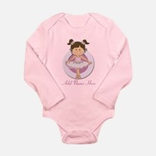 Personalized Ballerina Balle Long Sleeve Infant Bo