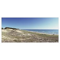 Sand dunes at the lakeside Upper Peninsula Lake Mi Poster