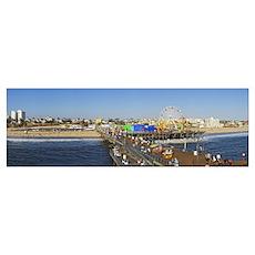 Amusement park Santa Monica Pier Santa Monica Los  Poster