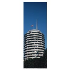 Low angle view of an office building Capitol Recor Canvas Art