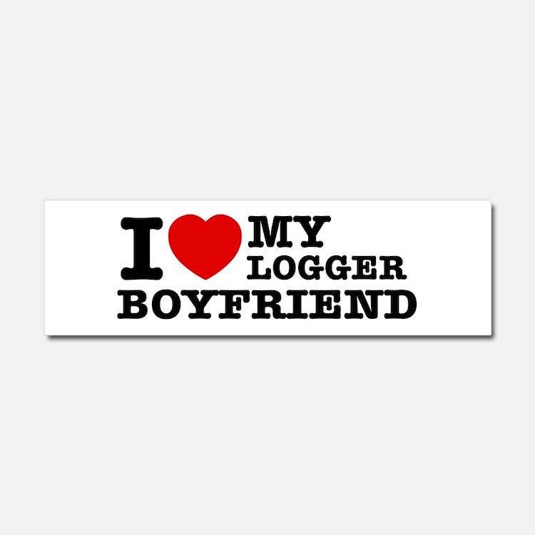 I love my Blogger Boyfriend Car Magnet 10 x 3