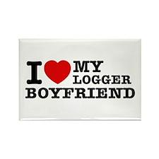 I love my Blogger Boyfriend Rectangle Magnet