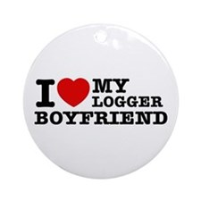 I love my Blogger Boyfriend Ornament (Round)