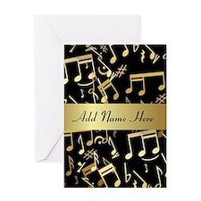 designer gold Musical notes Greeting Card