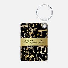 designer gold Musical notes Keychains