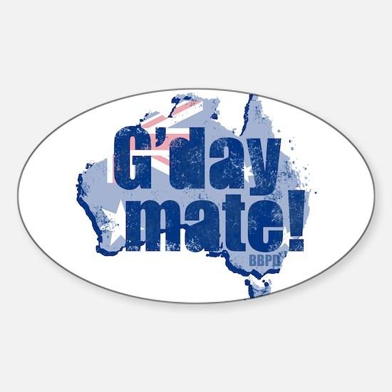 G'day Mate Sticker (Oval)