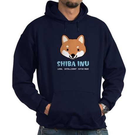 Shiba Inu Face Hoodie (dark)