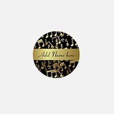Personalised designer gold Mu Mini Button