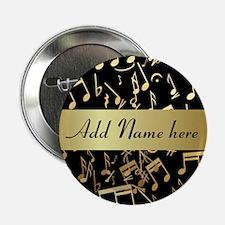 "Personalised designer gold Mu 2.25"" Button (10 pac"