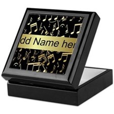 Personalised designer gold Mu Keepsake Box
