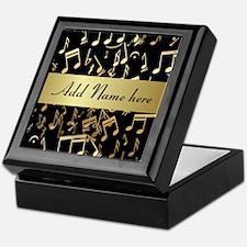 Personalised designer gold Mu Keepsake Box