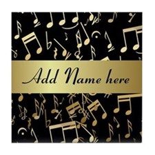 Personalised designer gold Mu Tile Coaster