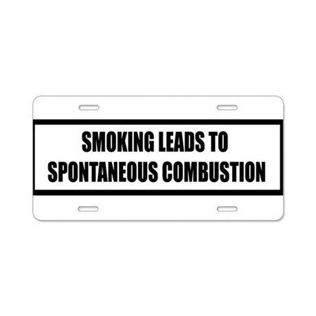 smoking Aluminum License Plate