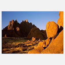 Rock formations in a desert Spitzkoppe Namib Deser