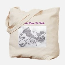 Funny Women motorcycle riders Tote Bag