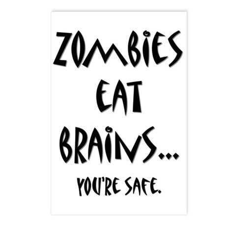 Zombies Eat Brains Postcards (Package of 8)