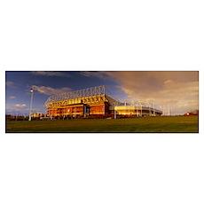 Clouds over a stadium Stadium Of Light Sunderland  Poster