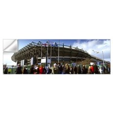 Rugby fans outside a stadium Murrayfield Stadium M Wall Decal