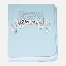 Conspiracy Ron Paul baby blanket